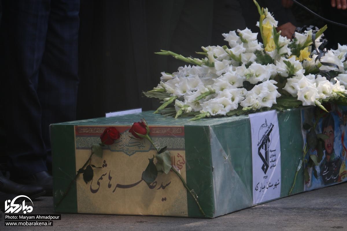 تصاویر|تشییع و خاکسپاری پیکر شهید مدافع حرم سیدظاهرهاشمی