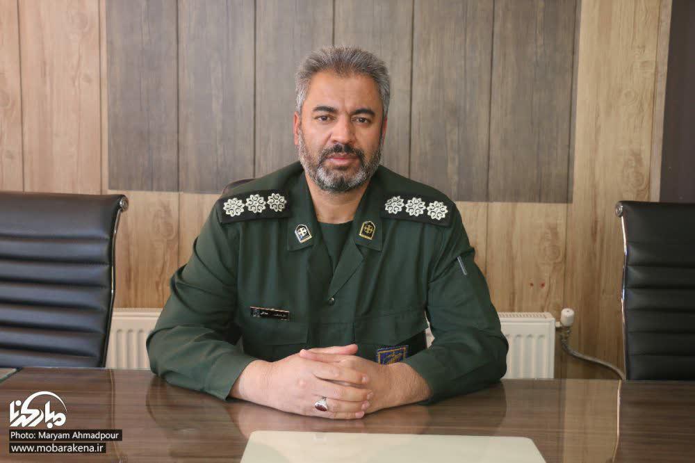 پیام تبریک فرمانده ناحیه مقاومت بسیج شهرستان مبارکه به مناسبت عید نوروز